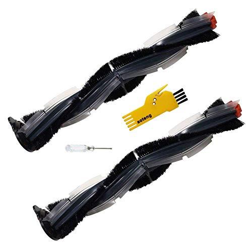 Zubehör Hauptbürste für Neato Botvac D-Serie Roboter-Staubsauger D3 D5 D75 D80 D85 Ersatzteile Packung mit 2 Stück Hauptbürsten