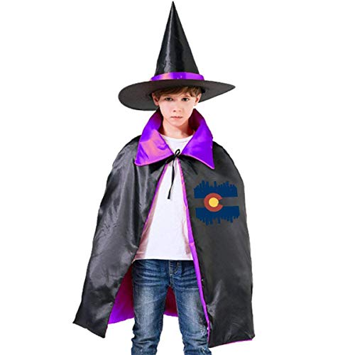 Colorado Flag City Halloween Party Costumes Wizard Hat Cape Cloak Pointed Cap Grils Boys ()