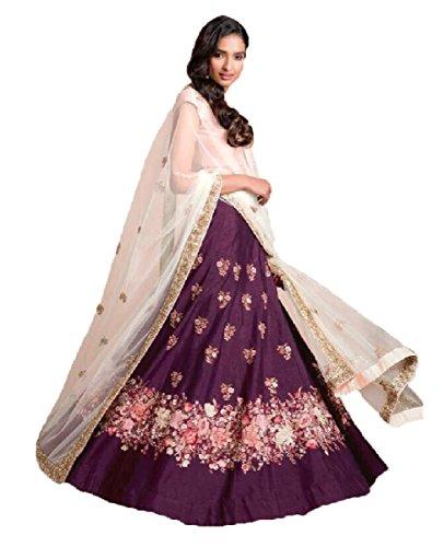 Muta Fashions Banglori Silk Purple Women Lehenga ( LEHENGA168_Purple )