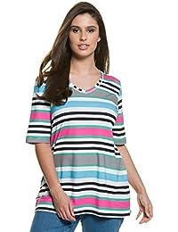 e69af3cf184d4 Ulla Popken Femme Grandes tailles   Chemise Manches courtes Tunique Mini  Robe Mousseline T-Shirt