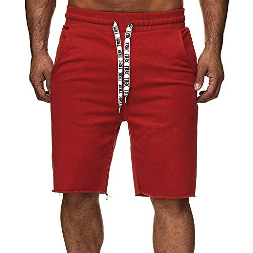 Herrenbekleidung, Herren Cargo Shorts Baumwolle Multi-Pocket Overalls Shorts Mode Hose Sport Lose Tasche Jogginghose Kordelzug Kurz Hosen Malloom