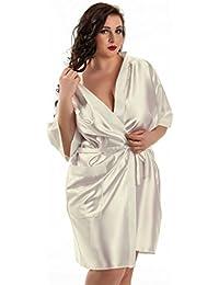 Nine X – Bata Kimono Corta de satén tamaños ...
