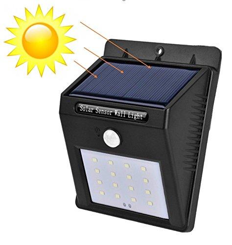 Hohe Patio Tisch (16 LED Weitwinkel Solarleuchten Außen Solar Betriebene Außenleuchte, Wandleuchte, Energiesparende Wasserdichte Bewegungs-Sensor-Licht für Garten, Patio, Deck, Hof - BarcelonaLED SL06)
