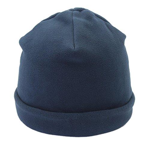 Outfly Gorro Forro Polar Unisex Gorro de Calavera Beanie Hats de Doble Capa, Azul
