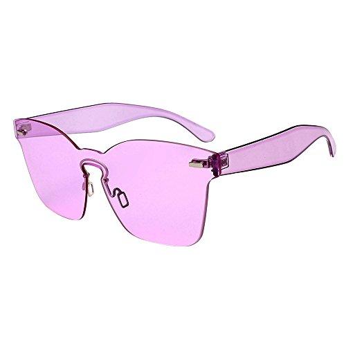 Sonnenbrille, Zolimx Frauen Unisex Mode Chic Shades Acetat Rahmen UV Gläser Sonnenbrille Sonnenbrillen Uv-Sonnenbrille FüR Frauen Sport & Freizeit Sonnenbrillen FüR Polarisierte Sonnenbrillen (Lila)