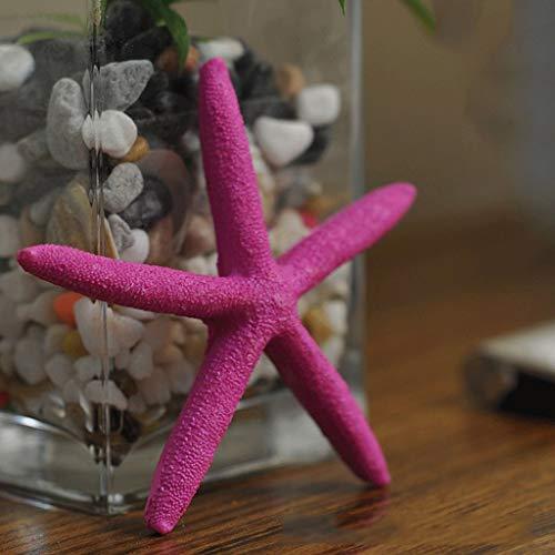 Zccymx Harz fünf Finger Mittelmeer natürlichen Seestern Simulation Sechseck Seestern Fischernetz Dekoration, nautische Wanddekoration Marine-Serie (Color : Pink) -
