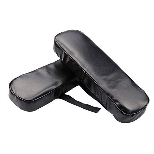 LIOOBO 2 Stücke Stuhl armlehne Pads unterstützung ellenbogen universal fit Pads für zuhause oder büro Stuhl (Schwarz) -