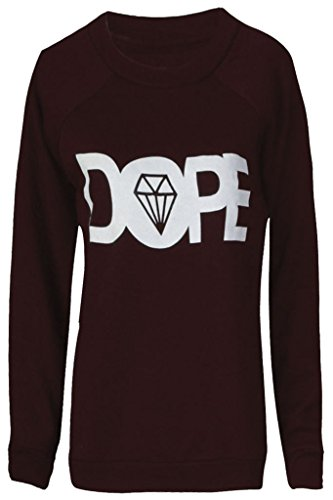 Home ware outlet - Sweat-shirt - Pull - Manches Longues - Femme noir * taille unique Dope Wine