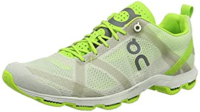 On Running Cloudracer Silver / Lime M 8.5, Chaussures Compétition Homme, Argent (Silver / Lime), 42 EU
