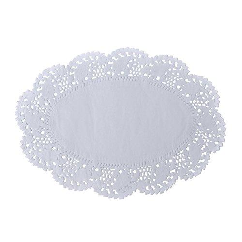 Oval Einweg-Platzdeckchen von Aspire, Spitze, Papier-Deckchen, für Kuchen, -