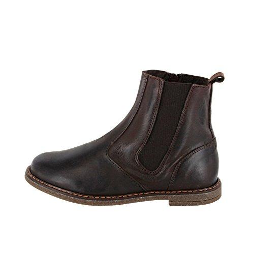 NENS Unisex Kinder Stiefelette Stiefel Leder (35, Grau)
