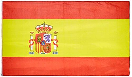 M&M MM 16279 - Bandera de España, resistente a la intemperie, 250x 150x 1cm, multicolor