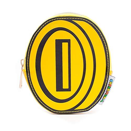 Nintendo Super Mario Bros. Bros. Coin Shaped Novelty Purse, Yellow/Black (GW733048NTN) Mün Preisvergleich