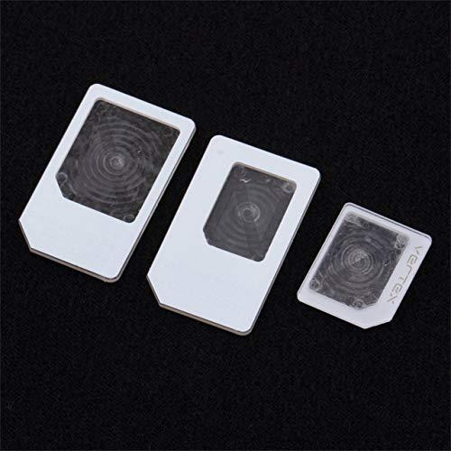 Jasnyfall 1 Satz / 3 für Nano SIM für Micro Standard Karte Adapter Tray Halter Adapter für iPhone 5 Free / Drop Shipping (weiß) (Iphone 5 Nano-sim-karte Tray)