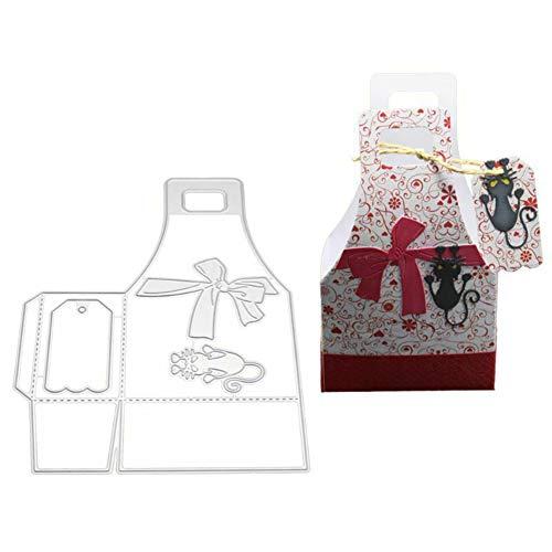 Jiacheng29 Stanzformen, Katze, Süßigkeiten-Geschenkbox, Metall Stanzformen, DIY Scrapbook Papier Karten Album Schablone (Abc Um Halloween)