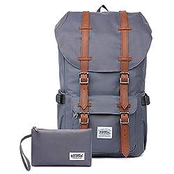 """KAUKKO Rucksack Damen Herren Studenten 17 Zoll Backpack für 15"""" Notebook Lässiger Daypacks Schüler Bag für Wandern 47 cm, 22.4 L"""
