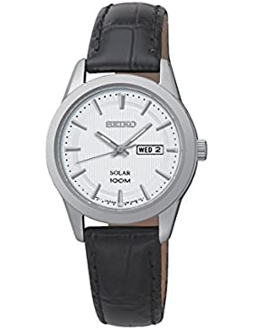 Seiko Damen-Armbanduhr Analog Quarz Leder SUT159P2