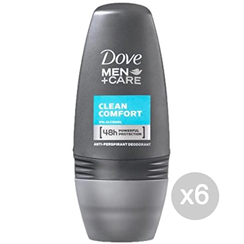 Set 6 DOVE Deodorante Roll-On 50 Uomo Clean Confort Cura E Igiene Del Corpo