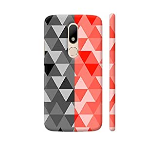 Colorpur Triangle Design Half Gray Artwork On Motorola Moto M Cover (Designer Mobile Back Case) | Artist: Malls