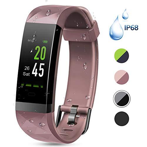 Lintelek Fitness Tracker Fitness Armband mit Pulsmesser Wasserdicht IP68 0,96 Zoll Farbbildschirm Smartwatch Aktivitätstracker Pulsuhren Schrittzaehler Uhr Smart Watch Fitness Uhr MEHRWEG