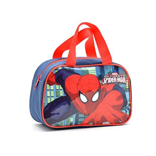 Bolso Bajo Con Asas Spiderman Capacidad 15 x 8 x 23 cms
