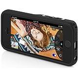 Incipio IPH-1062-BLK hochwertige Kunstleder Focal Kamera Schutzhülle mit Bluetooth für Apple iPhone 5/5S/SE schwarz