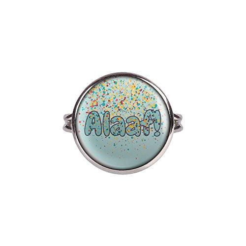 v Alaaf Karneval Grün Gelb Konfetti silber 16mm ()