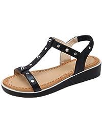 Longra Donne Bow sandali Slipsole (EU Size:40, Nero)