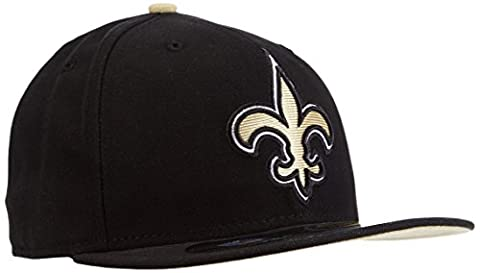 Baseball cap new era bonnet pour adulte nFL new on field orlean 59 fifty fitted saints 8 Noir - Noir/Or