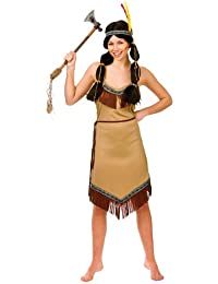 Wicked - Déguisement Costume Indienne Pocahontas Femme – Taille S
