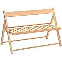 Preisvergleich für Valdomo 219/01panchinetta Kind klappbar, Holz, Natur, 75x 30x 56cm