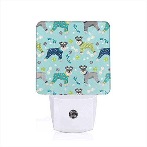 auzers In Jammies Cute Dogs In Pajamas Pyjamas Auto Senor Dusk to Dawn Night Light Plug in for Baby, Kids, Children's Adults Room ()