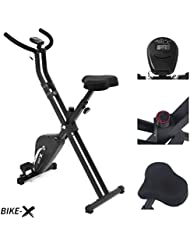 Esprit BIKE-X Fitness Belt Driven Exercise Bike Foldable Fitness Cardio Workout Weight Loss Machine (Black)