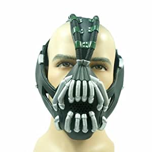 Dark Knight Rises Bane Batman Mask Replica Latex maske Silver Version Wonder Cosplay