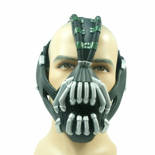 Batman Bane Maske The Dark Knight Rises, Adult Size, flexiable, Neue Version, (Fluch Alter Kostüme Ein)