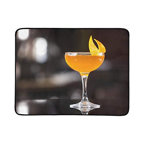 SHAOKAO Party Farbglas Cocktail Muster Tragbare Und Faltbare Deckenmatte 60x78 Zoll Handliche Matte Für Camping Picknick Strand Indoor Outdoor Reise