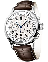 Longines Heritage Lindbergh's Atlantic Voyage Automatic Chronograph Steel Mens Watch L2.730.4.78.0