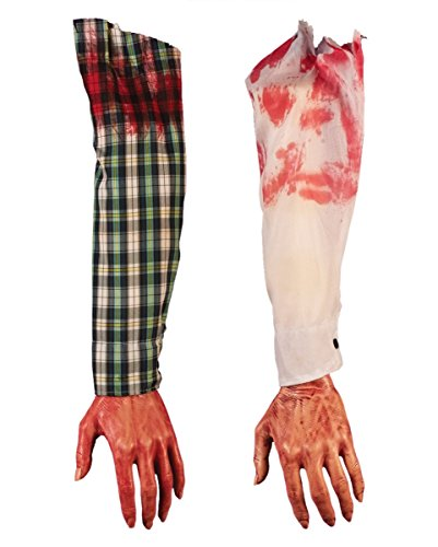 Abgetrennter blutiger Arm (Halloween Leichenteile)