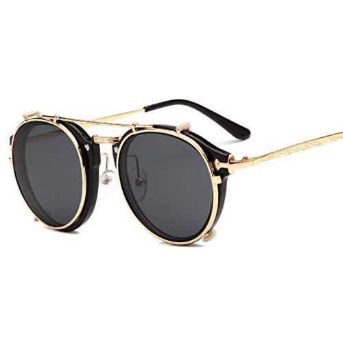 NECCT Clip On Sunglasses Men Steampunk Damenmode Brille Vintage Retro Mode Sonnenbrillen,A1