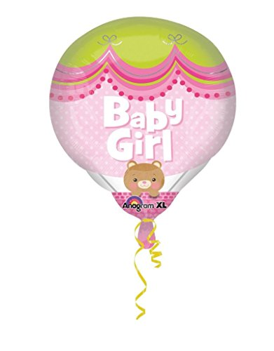 amscan Baby Girl Hot Air Super Shape Folienballon, Pink (Girl Up Dress Hot)