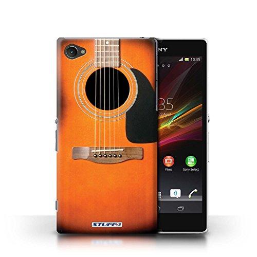 Kobalt® Imprimé Etui / Coque pour Sony Xperia Z1 Compact / Rouge Electrique conception / Série Guitare Sunburst Acoustique