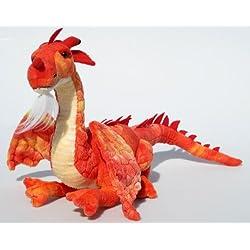 Peluche Dragón Rojo, De pie, 45cm, Dragón de peluche plástico Dragón