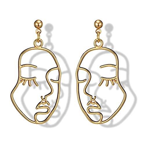 a7042f205bad LouiseEvel215 Aleación clásica pendientes de las Mujeres ahueca hacia fuera  la cara en Forma de oreja