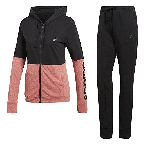 adidas Damen Wts CO Marker Trainingsanzug, Black/Real Coral s18, L
