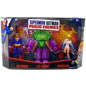 Mattel Superman/Batman Public Enemies Mini Figure 3-Pack Superman, Lex Luthor & Power Girl by DC Comics