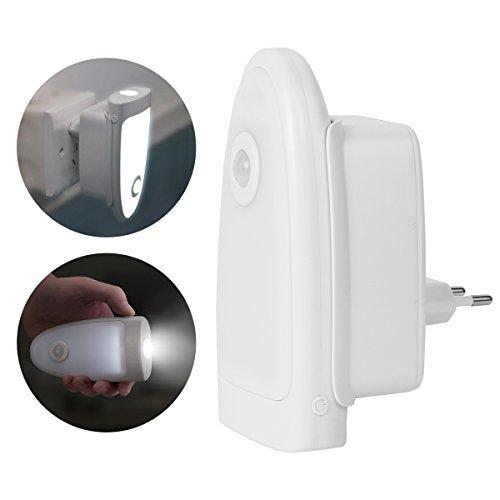 Multi-funzione Luce Notturna con Sensore di Movimento e Base di Ricarica Wireless Motion Luce Emergenza Luce da Parete da Utilizzare in Camera da Letto, Corridoio, Sala da Bagno - Duomishu
