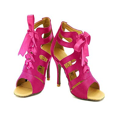 Chaussures De Danse Pour Femme - Ballroom / Latin American / Salsa Satin - Noir / Rouge / Or Noir