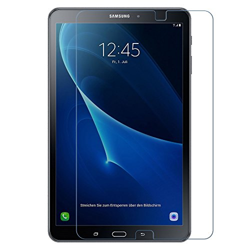 EasyAcc Samsung Galaxy Tab A 10.1 Displayschutzfolie Glas Folie Schutzfolie Glas Panzerfolie for Samsung Galaxy Tab A 10.1 T580N/T585N 2016 Klar Anti-Kratz Screen Protector Displayschutz Displayfolie - 9H Hardness aus gehärtetem Glas