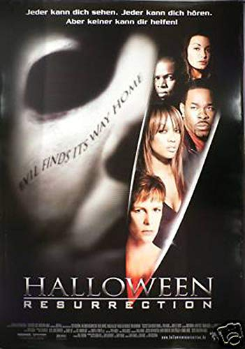 Halloween: Resurrection - Jamie Lee Curtis - Filmposter A1 84x60cm gerollt (Jamie Lee Curtis Halloween Resurrection)