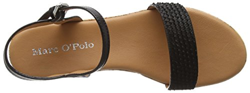 Marc O'Polo Wedge Sandal, Sandales Plateforme femme Noir - Noir (990)